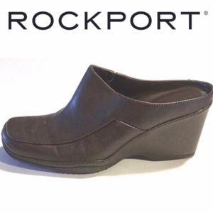 Rockport // Dark Brown Mule Shoes